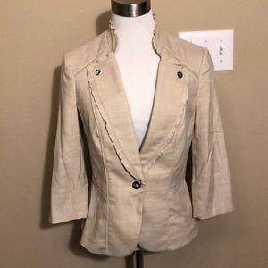 WHBM tan jacket size 2
